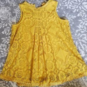 Mustard yellow swing top size s